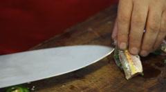 Recipe Stuffed fish Stock Footage