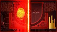 Fingerprint Scanner - Program - Red Stock Footage