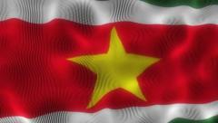 Waving Flag Suriname Stock Footage