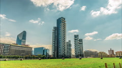 Solaria tower is the tallest residential building in Italy. Stock Footage