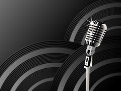 Microphone shining background Piirros