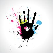 vector abstract hand - stock illustration