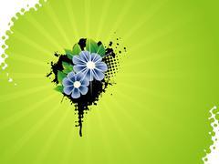 Vector flower artistic design - stock illustration