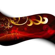 Stock Illustration of stylish floral artwork design