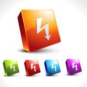 Stock Illustration of vector arrow 3d icon shape