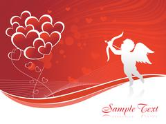 Stock Illustration of Cupid heart