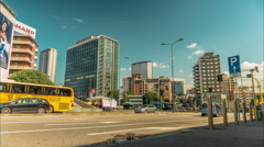 Rush hour traffic moves along a busy street at a major city. Stock Footage