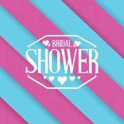 bridal shower sign lines background - stock illustration