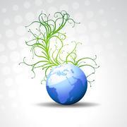 Stock Illustration of beautiful vector blue earth