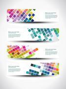 vector header design - stock illustration