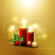 beautiful christmas background - stock illustration