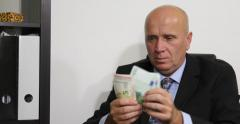 Wealthy European Business Man Counting Euro Money Receive Payment Salary Earning Stock Footage