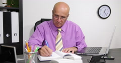 Business Man Memo Ideas Meeting Schedule Organizer Agenda Notes Office Planner Stock Footage
