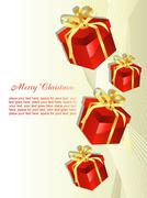 Christmas gift beautiful artistic background - stock illustration