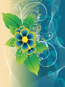 Beautiful flower vector Stock Illustration