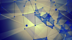 Stock Video Footage of Abstract lines with triangles in blue