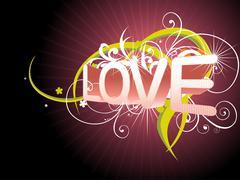 Beautiful love background - stock illustration