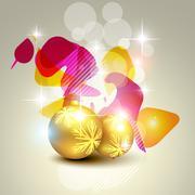 artistic christmas ball - stock illustration