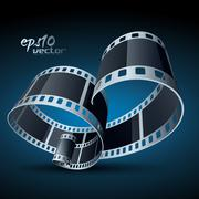 Stock Illustration of realistic vector reel film