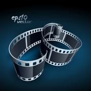 vector film reel - stock illustration