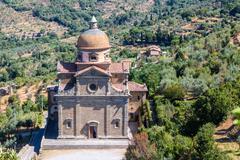 Santa Maria Nuova Church in Cortona ,Italy - stock photo