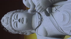 Goddess Qwan Yin with Child, Vertical Footage Stock Footage