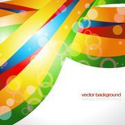 Stock Illustration of stylish wave background design