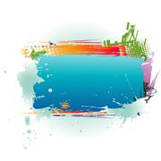 Abstract Colorful Text Box Stock Illustration