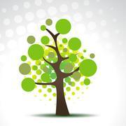 Vector abstract tree Stock Illustration