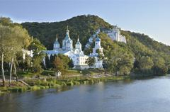 Holy Assumption Lavra monastery, Svyatogorsk, Ukraine - stock photo