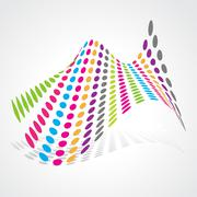 abstract artistic design - stock illustration