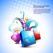 stylish beautiful abstract art - stock illustration
