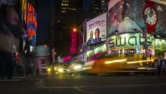 Time lapse of Times Square. 2 in 1. Zoom in. Manhattan, New York. United States. Stock Footage