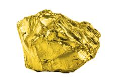 A gold nugged isolated on white background - stock photo