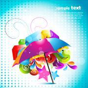 Stock Illustration of beautiful umbrella design