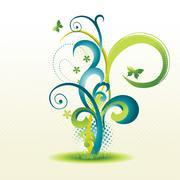 Stock Illustration of beautiful floral design
