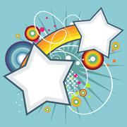 abstract star funky vector background - stock illustration