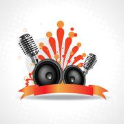 Stock Illustration of vector artistic mic background