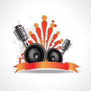 vector artistic mic background - stock illustration