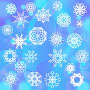 Snow Flake Background Stock Illustration