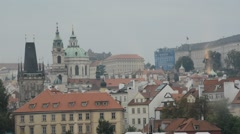 Beautiful architecture of Prague city during the history Stock Footage
