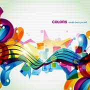 colorful celebration - stock illustration
