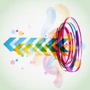 funky style colorful design - stock illustration