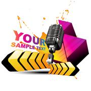 vector mic colorful background - stock illustration