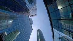 A group of modern skyscrapers in Moscow city Stock Footage