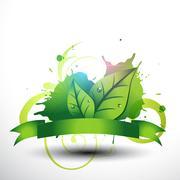 beautiful leaf design - stock illustration
