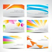 Stock Illustration of business colorful cards