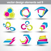 abstract shape vector - stock illustration