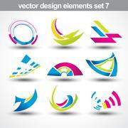 abstract shape vector - stock illustration