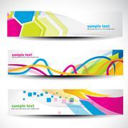 abstract header set - stock illustration